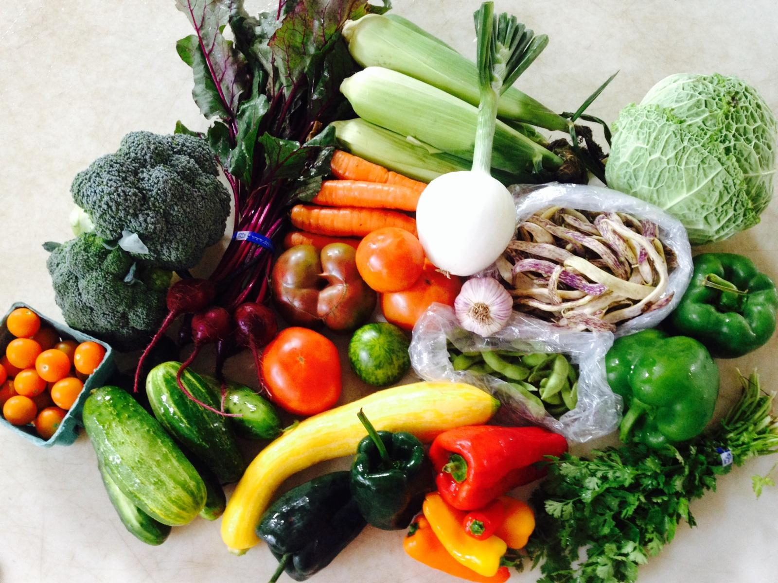 CSA, organic vegetables